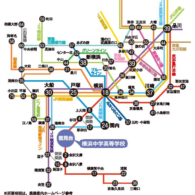 横浜市営バス 路線図