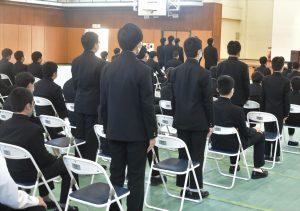 横浜中学校令和二年度表彰式1